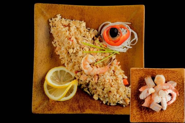 Рис техан с морепродуктами