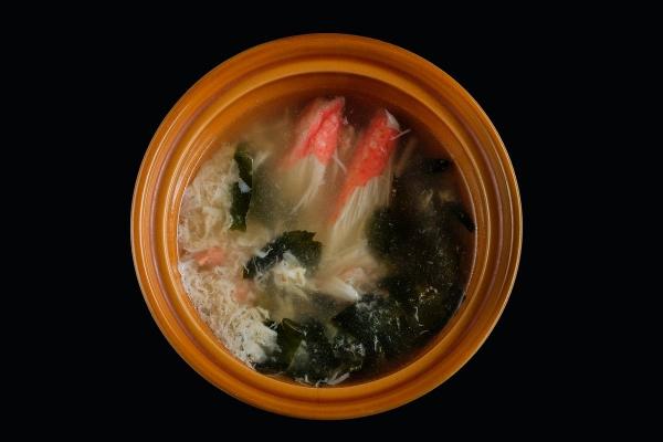 Суп с крабом