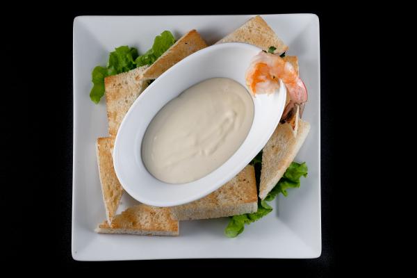 Сырный дип с креветкой